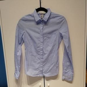 3/$25✨Blue cotton blend button up dress shirt| H&M